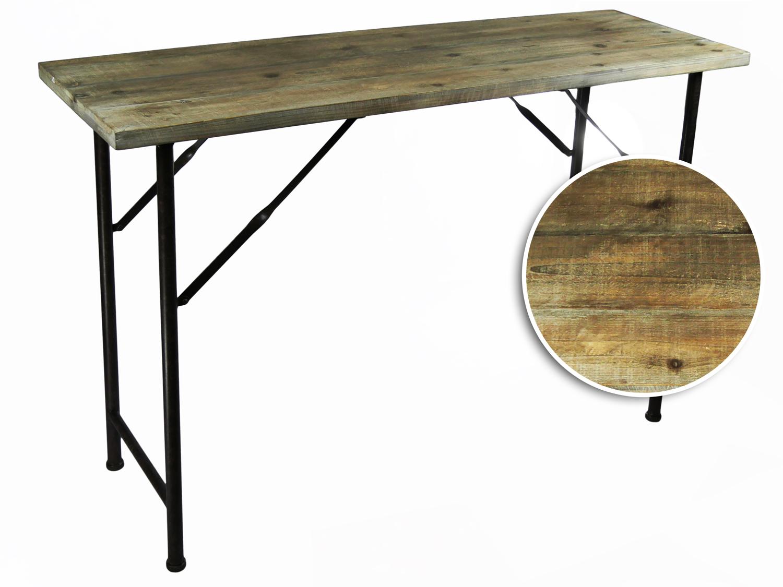 konsolentisch tisch beistelltisch konsole telefontisch holz metall 120cm vintage ebay. Black Bedroom Furniture Sets. Home Design Ideas
