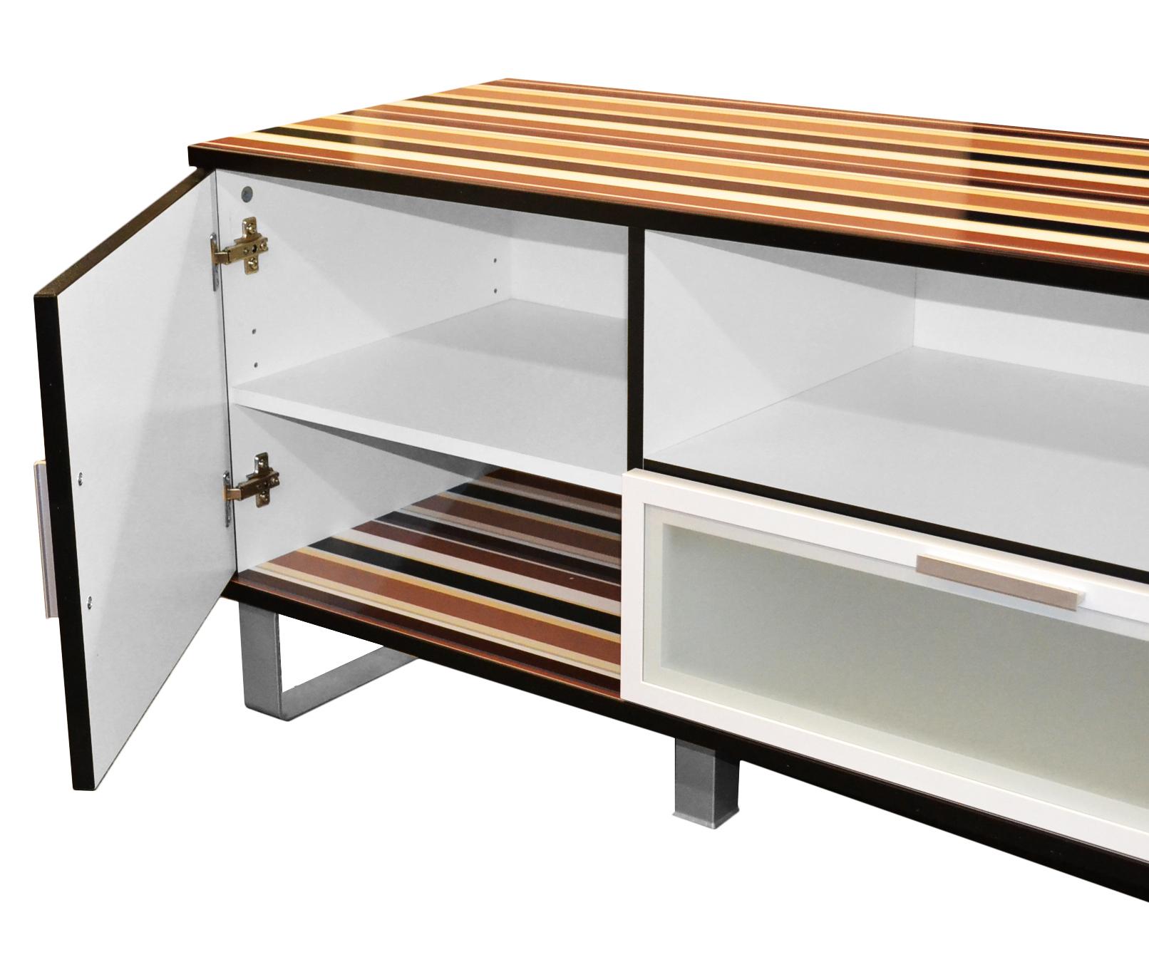 tv lowboard fernsehtisch fernsehschrank tv board hifi rack wohnzimmer retro b ebay. Black Bedroom Furniture Sets. Home Design Ideas