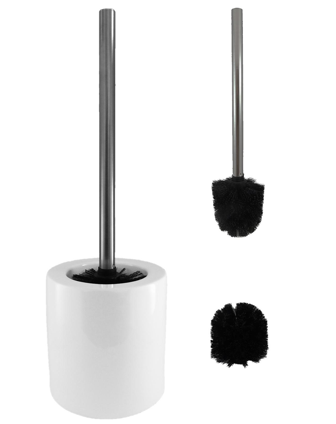 edle wc garnitur set wc b rste schwarz edelstahl ersatzkopf klob rste b rste neu ebay. Black Bedroom Furniture Sets. Home Design Ideas
