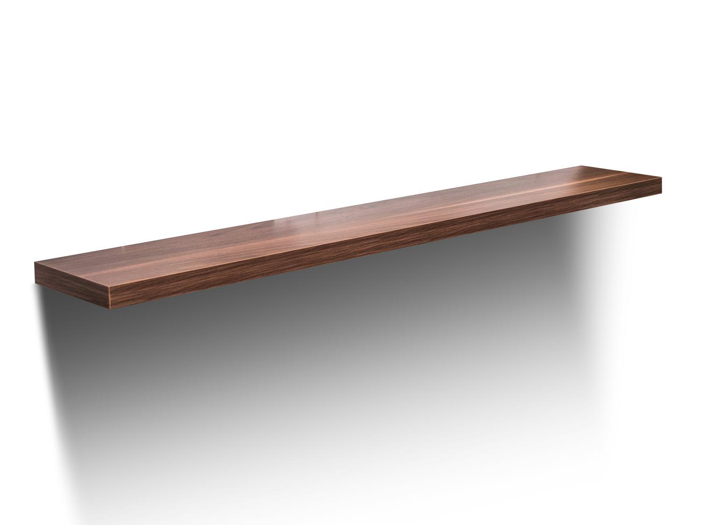 Wandboard steckboard wandregal regal h ngeregal wandkonsole nussbaum 121 7cm 19b ebay - Wandboard walnuss ...