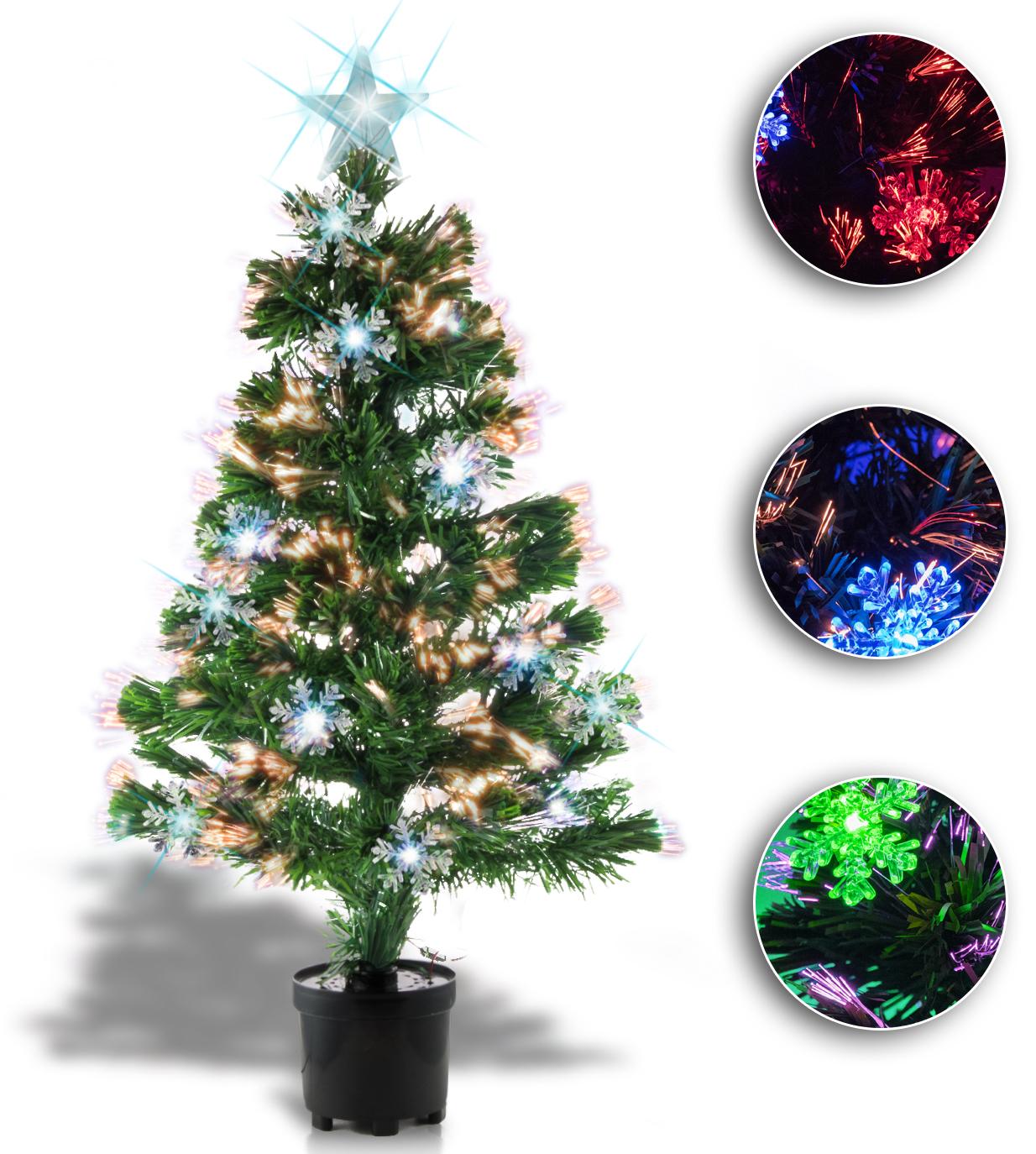 Weihnachtsbaum christbaum tannenbaum dekoration mit farbwechsel 60 90 120cm ebay - Tannenbaum dekoration ...