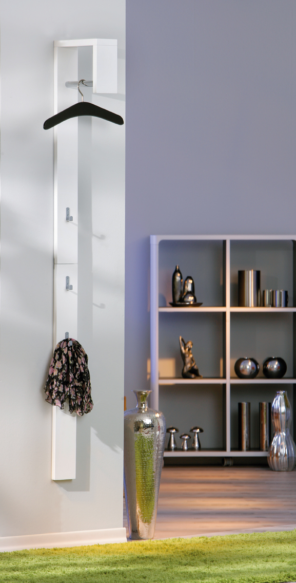 garderobe wandpaneel wandgarderobe flur garderobenleiste hochglanz wei 177cm ebay. Black Bedroom Furniture Sets. Home Design Ideas